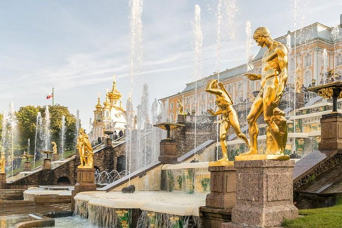 Half Day Group Tour of Peterhof Gardens and Fountains