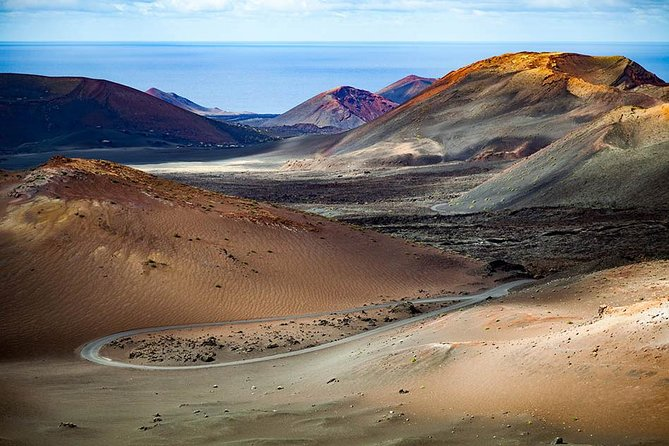 Lanzarote South Short with the Entrance to Timanfaya Volcan
