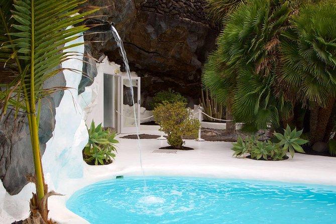 Lanzarote Cesar Manrique com grutas verdes ou entrada de Jameos del Agua