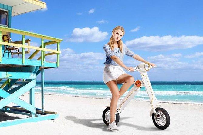 Bicicleta eléctrica ecológica de 1 hora en Art Deco Miami Beach