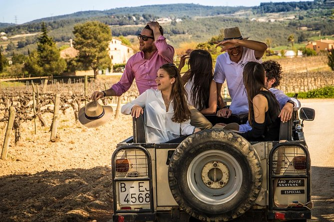 Wine & Cava with Tapas & 4WD Vineyards Experience from Barcelona