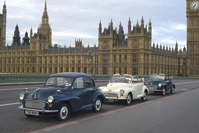 Private Tour: London City Tour in a Vintage Car with Optional Champagne