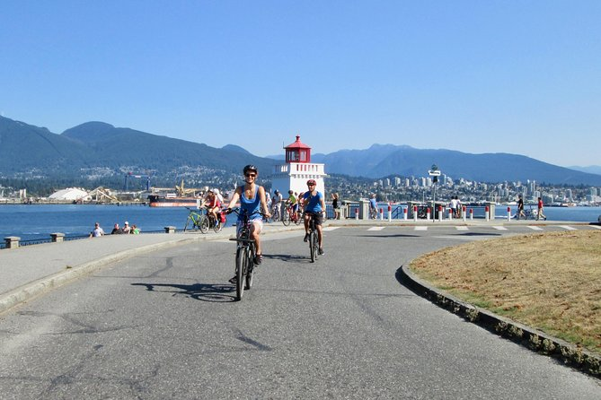Sunset Vancouver E-Bike Self-Guided Tour with Wine and Cheese