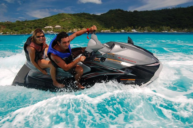 Bora Bora Jet Ski Tour, Lunch at Bloody Mary's + Shark & Stingray Snorkel Cruise
