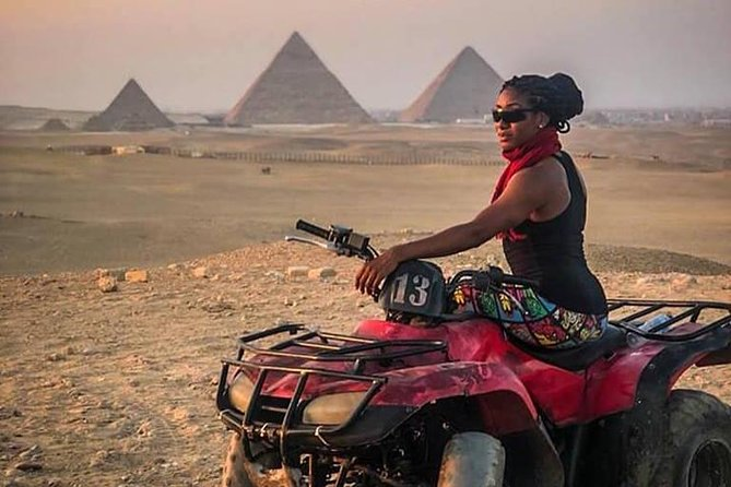 Amamzing Day Tour To Giza Pyramids With Camel Ride & Four Wheeler (ATV)