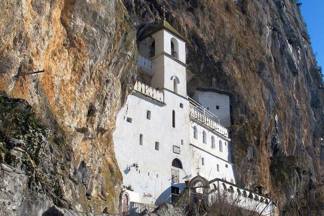 Smiley Nort of Montenegro Tara bridge and Ostrog Monastery