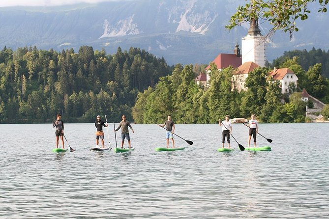 Guided SUP tour of lake Bled