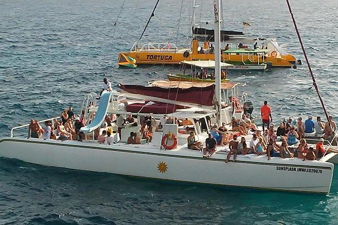Negril seven Miles Beach & Rick's Cafe Sun Set: with Open Bar Catamaran