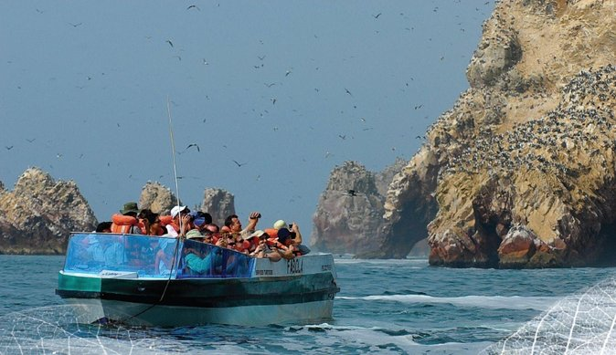 Paracas and ballestas islands reserve from San Martin port