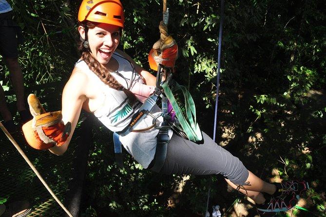 Zip lining, rappel and a Tarzan Swing
