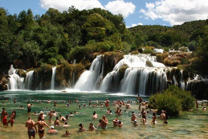 Krka Waterfalls tour - From Okrug Gornji and Trogir
