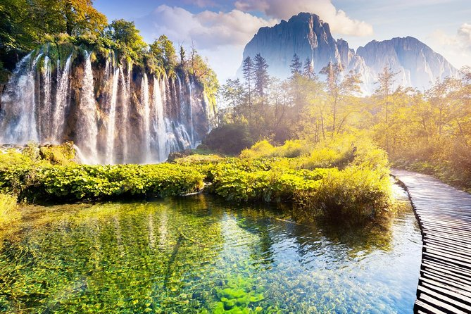 Plitvice Lakes National Park Tour from Split or Trogir with entry ticket