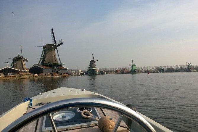 Aluguel de barco com duração de meio dia em Zaandam saindo de Amsterdã