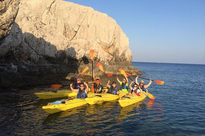 Aventura de kayak de mar de día completo en Rodas, incluido el almuerzo