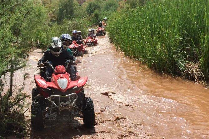 Excursão de quadriciclo de meio dia no Deserto de Agafay e no lago de Marrakech