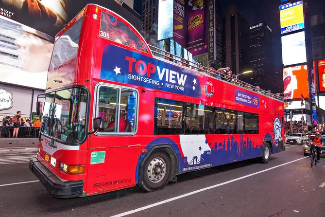 NYC Night Bus Tour, from Times Square to the Brooklyn Bridge
