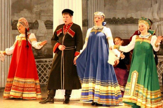 Apresentação de folclore russo no Palácio de Nikolayevsky