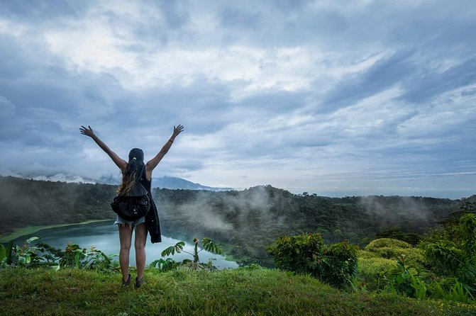 Hiking to Hule Volcanic Lagoon