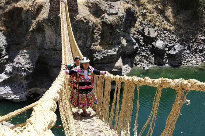 Queswachaca the Last Inca Bridge and 4 Lagoons Tour with Picnic