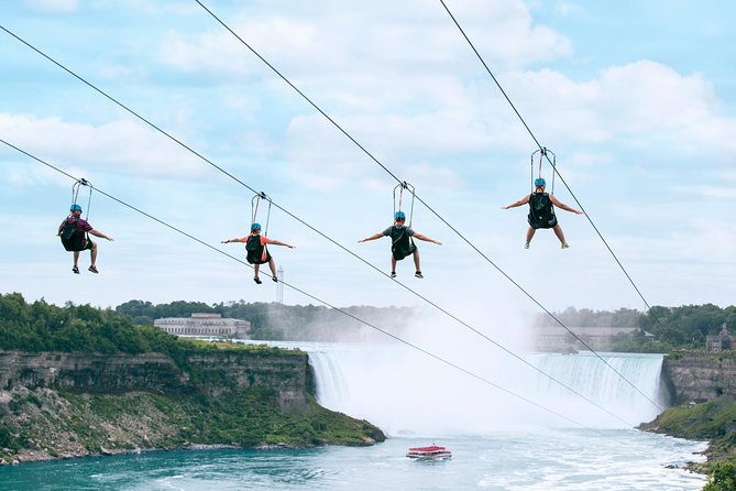 Zipline To The Falls in Niagara Falls, Canada