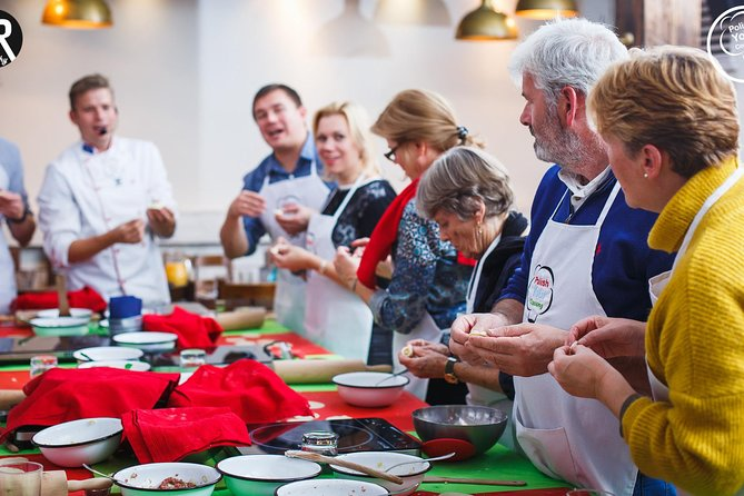 Traditional Polish Cooking Class with liquor tasting and aprons in Warsaw