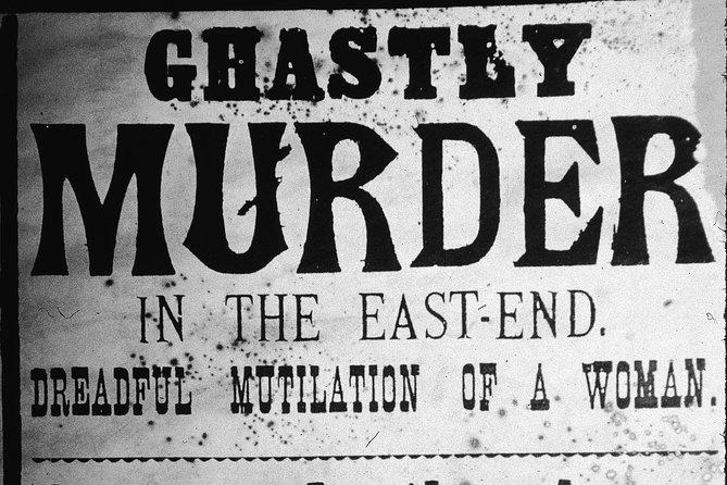 PRIVATE TOUR : Jack the Ripper tour : solve the crime