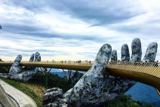 GOLDEN BRIDGE & BA NA HILL via CABLE CAR from DA NANG or HOI AN (Private Tour)