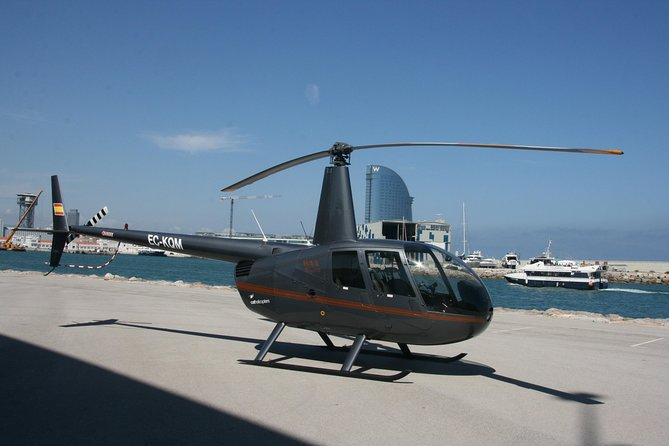 Helicopter Flight and Sailing Experience Small Group from Port Vell