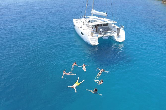 Athens Private Luxury Catamaran Cruise with Traditional Greek Meal and BBQ