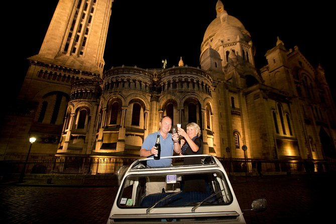 Paris and Montmartre by Night Tour in a 2CV