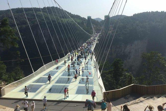 Private Day Tour av Tianmen Mountain Sky Walk og Zhangjiajie Grand Canyon Glass Bridge