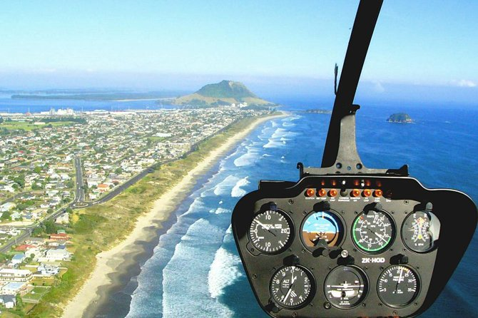 Mount and City Helicopter Flight from Tauranga