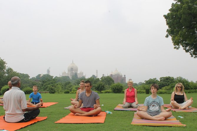 1-Hour Yoga Session Facing Taj Mahal including Hotel Transfer