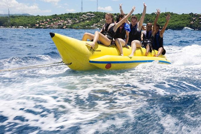 Bali Marine Water Sport Activities Fun Package: Banana Boat, Parasailing and Jet Ski