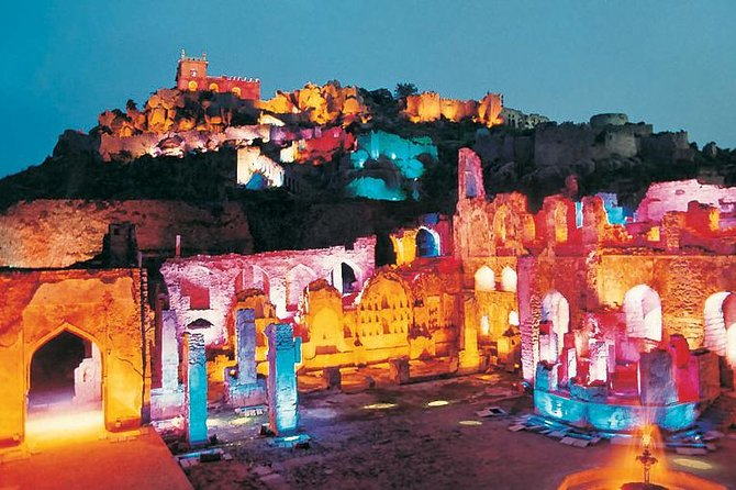 Golconda Fort Sound and Light Show from Hyderabad with Private Transport