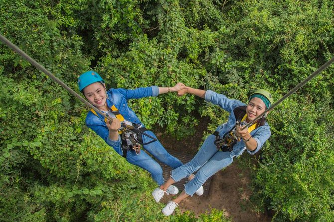 Unique Angkor Temple Bike Tour and Zipline Eco-Adventure from Siem Reap