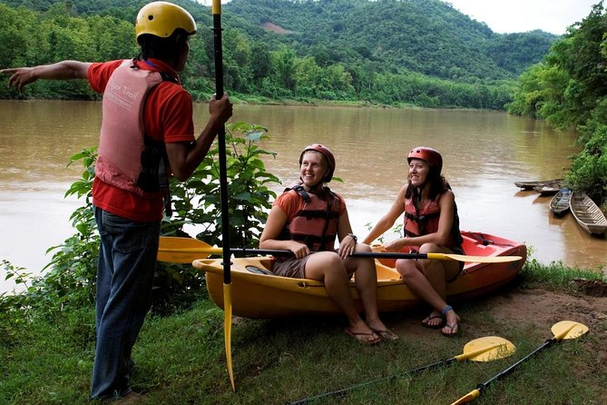 KAYAKING NAM KHAN RIVER AND TAD SAE WATERFALL - Luang Prabang tour