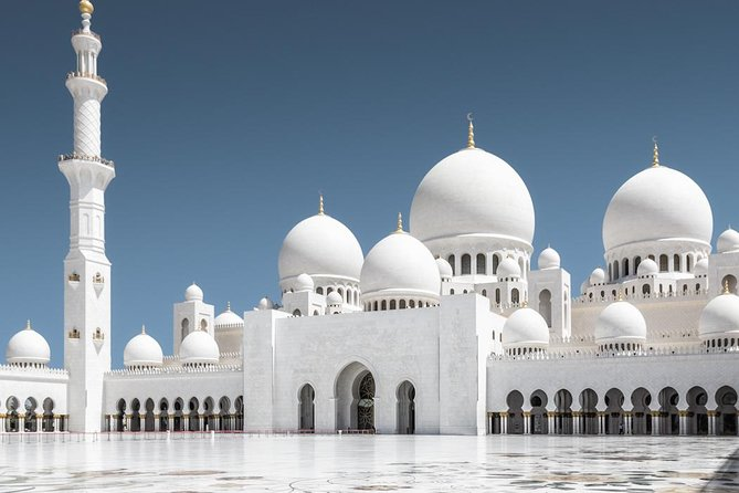 Ferrari World With Sheikh Zayed Grand Mosque From Dubai