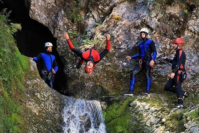 Bled and Bohinj Valley Canyoning Adventure with Hotel Pickup