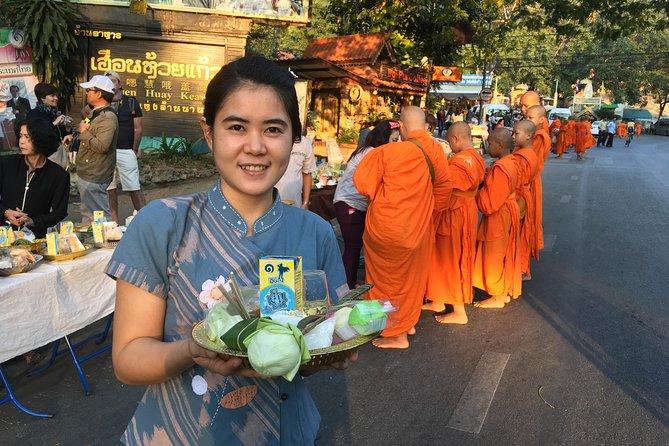 Doi Suthep temple, Alms to monks, Hidden temple & Chiang Mai city views.