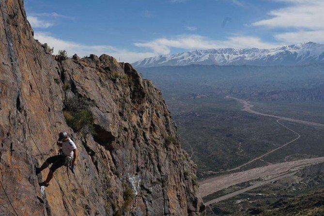 Rock climbing near Potrerillos