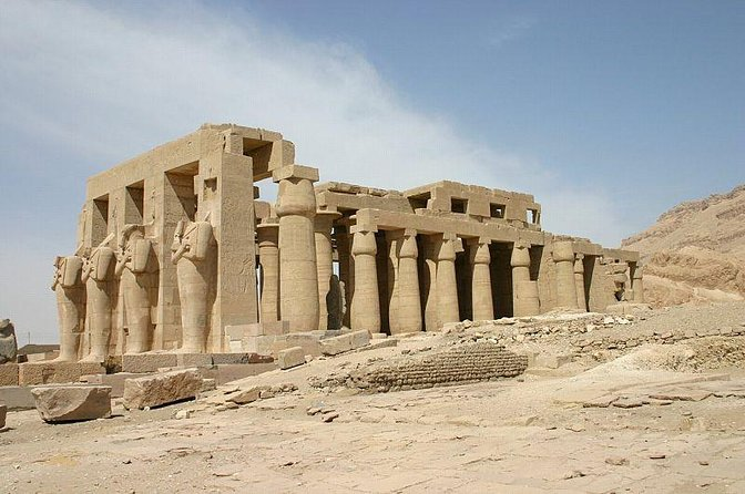 West bank Ramesseum, Setti I temple & nobles tombs