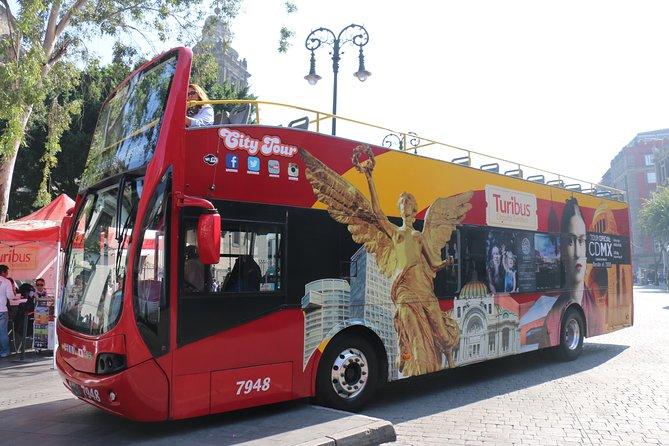 Excursão de Turibus com várias paradas pela Cidade do México