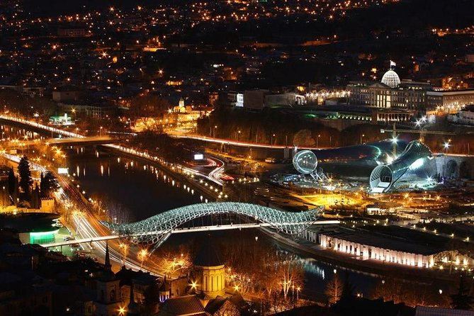Tbilisi city at night