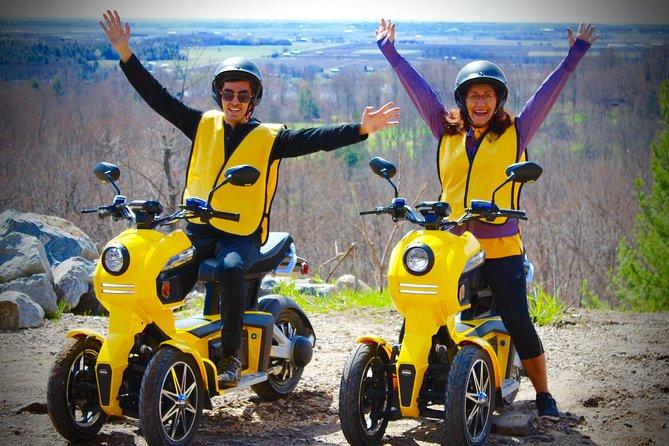 Partez à l'aventure des régions inexplorées: jeu d'exploration en scooters électriques à 3roues