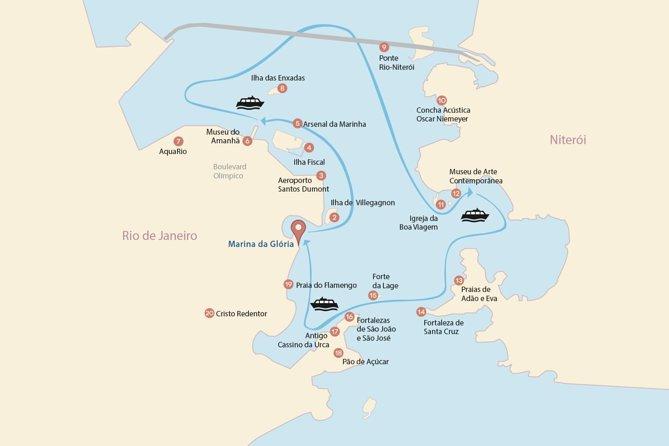 Guanabara Bay Catamaran Tour in Rio de Janeiro with Transfer