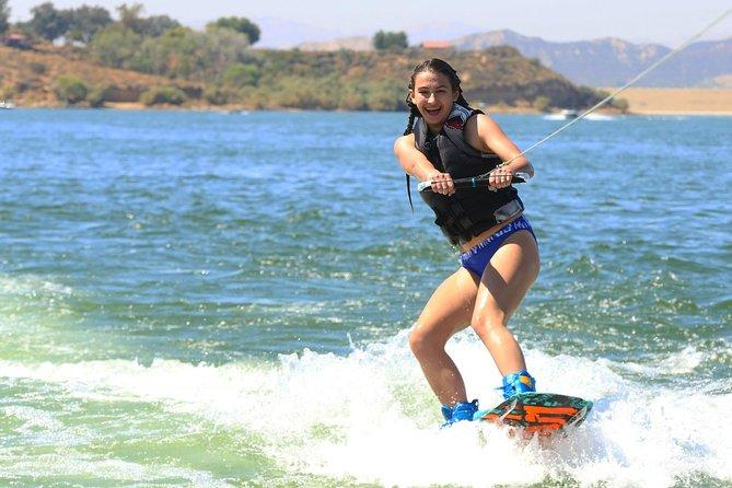 Wakeboarding, wakesurfing, waterskiing and tubing behind the boat