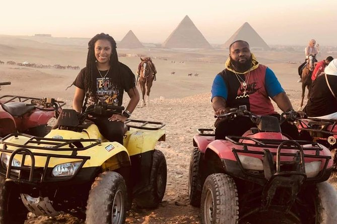 Giza pyramids ,sphinx ,ATV bike ,camel ride ,shopping tour & dinner show