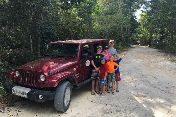 Mayan Jungle Jeep to Jade Cavern Cenote and Snorkel Adventure