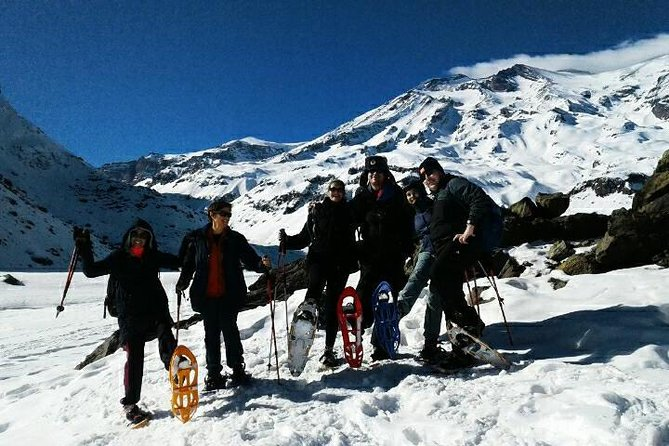 Snowshoeing Hiking Adventure in Cajon del Maipo from Santiago